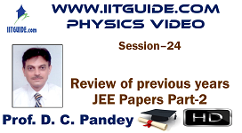 IIT JEE Main Advanced Coaching Online Class Video Physics - previous years IIT-JEE  Papers 2