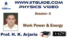 IIT JEE Main Advanced Coaching Online Class Video Physics - Work Power Energy